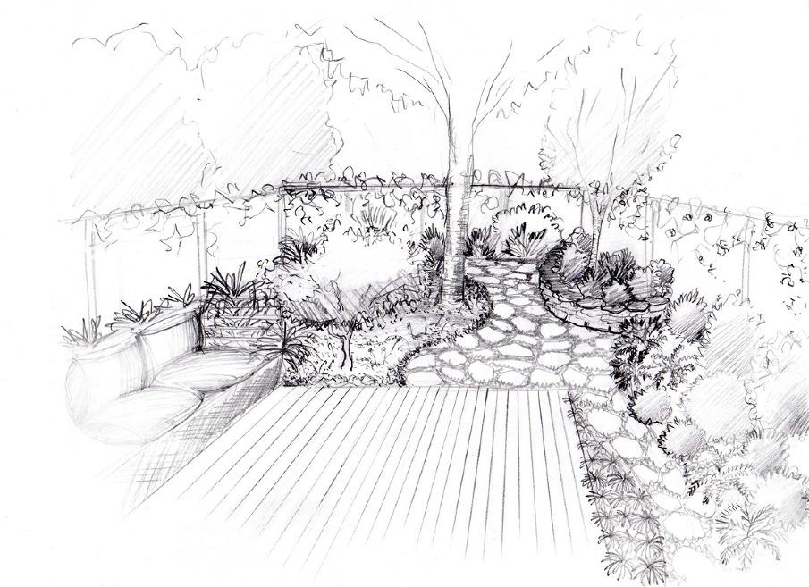 Kringstein residence alyssa erickson landscape design for Garden design sketches