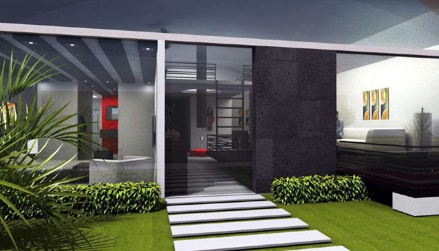Loft design cobe arquitectura for Casa con jardin valencia