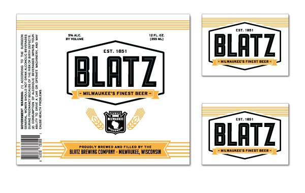 Blatz Beer Re-Branding - Derek W. Veigel | 600 x 380 jpeg 141kB