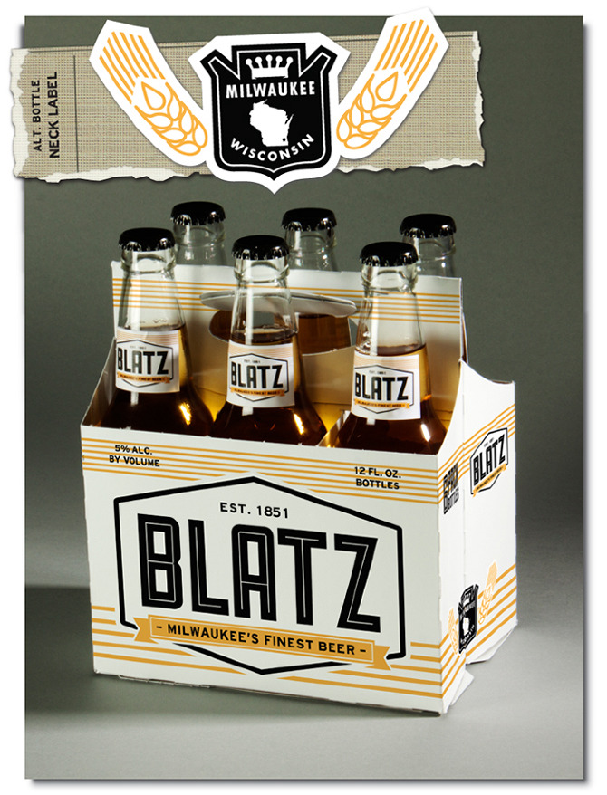 Blatz Beer Re-Branding - Derek W. Veigel | 670 x 878 jpeg 232kB