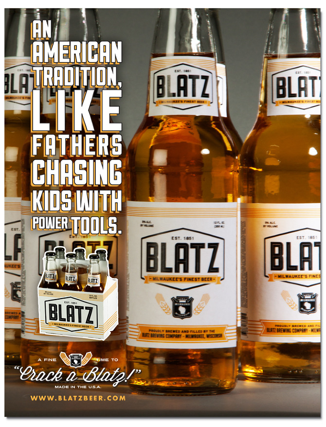 Blatz Beer Re-Branding - Derek W. Veigel | 670 x 878 jpeg 288kB